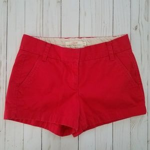 J Crew red chino shorts